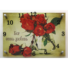 """Часы настенные """"Бог есть любовь"""""""