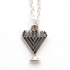 Кулон на цепочке - Минора-подсвечник треугольная (под серебро)