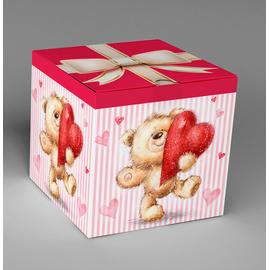 Подарочная коробка для кружки «Мишка с сердцем»