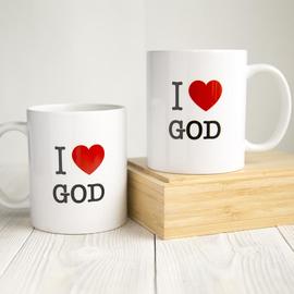 Кружка «I love God» (сердце)