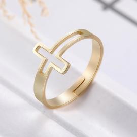 Кольцо «Крест», регулируемый размер