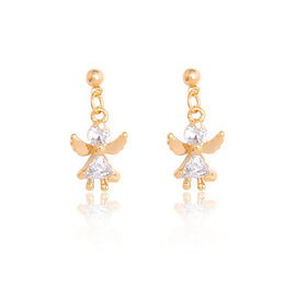 Серьги - Ангел с золотыми крыльями