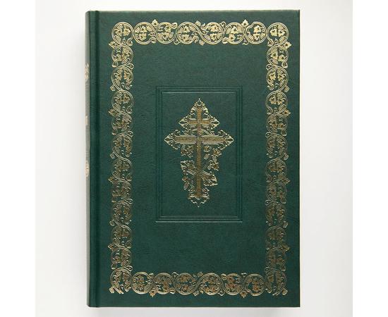 Библия с неканоническими книгами Ветхого Завета (17х24см, зелёный твёрдый переплёт)